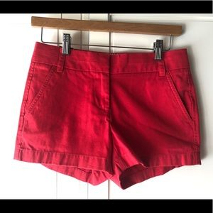 brand new J.Crew Red Color shorts !